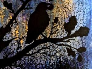 Street Lamp Crow
